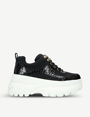 KG KURT GEIGER Luscious embellished leather platform trainers