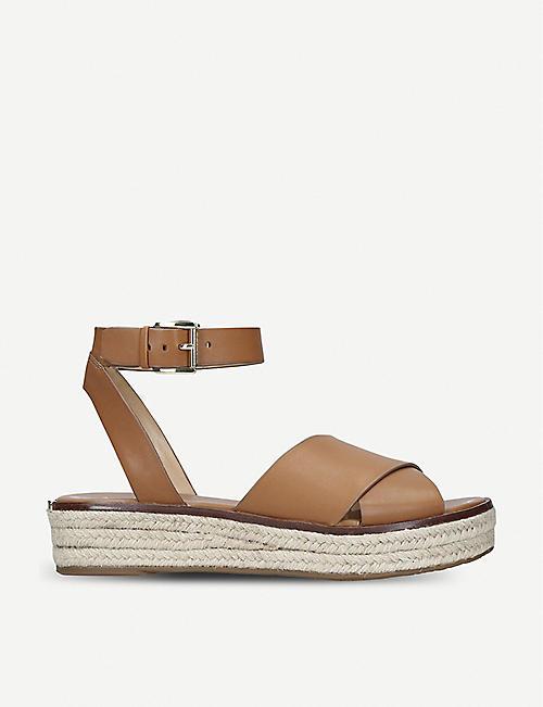 f550a5497c99 MICHAEL MICHAEL KORS Abbott leather espadrille flatform sandals