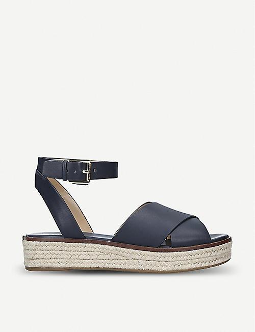 d83caed5c65e MICHAEL MICHAEL KORS Abbott leather espadrille flatform sandals