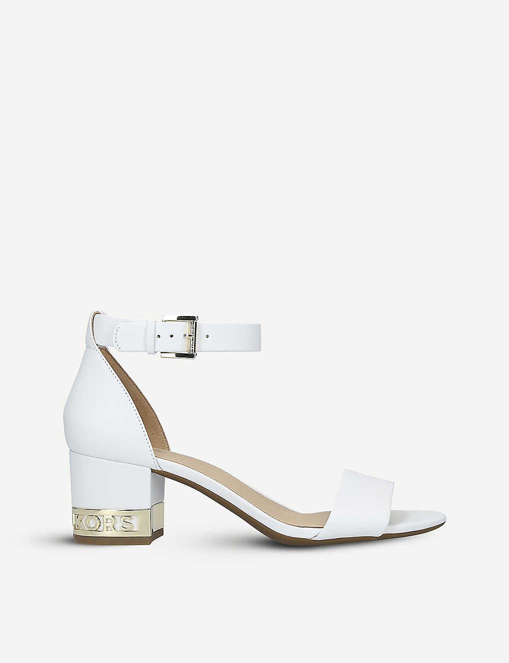 293b21deed MICHAEL MICHAEL KORS - Portia flex block heel leather sandals ...