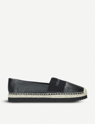 MICHAEL MICHAEL KORS Vicky logo-detail leather espadrilles