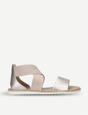 edf78d703 SOREL - Ella metallic leather and textile sandals