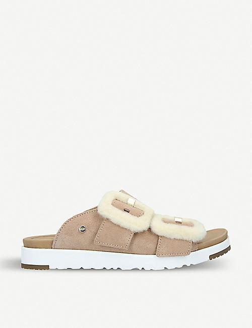 86183f4b7ab9 UGG Fluff Indio suede platform sandals