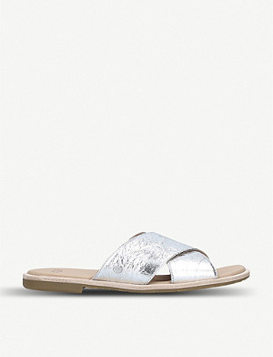 UGG Joni Metallic leather sliders