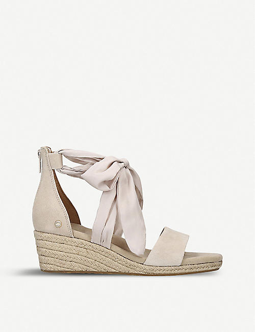 UGG: Trina suede wedge sandals
