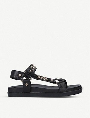 CARVELA Kostello chain-embellished leather sandals