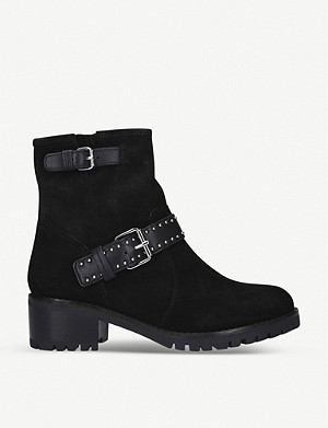CARVELA COMFORT Reality embellished suede ankle boots