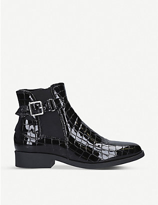 CARVELA COMFORT: Rich crocodile-effect patent leather ankle boots