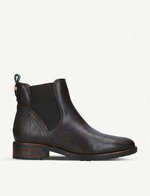 CARVELA COMFORT Russ faux-fur trim leather Chelsea boots