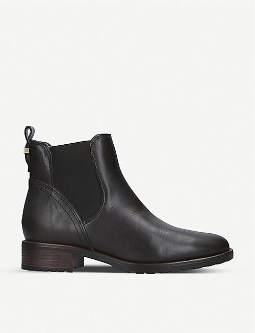 CARVELA COMFORT: Russ faux-fur trim leather Chelsea boots