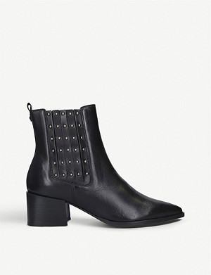 CARVELA Tingle stud-detail leather Chelsea boots