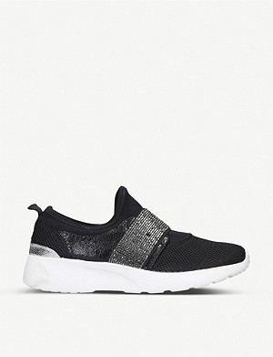 CARVELA COMFORT Connie embellished-strap mesh trainers