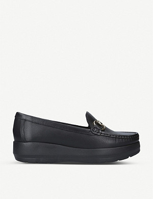 CARVELA COMFORT Chaz leather flatform loafers