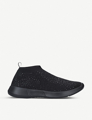 CARVELA COMFORT Cambrie embellished sock trainers