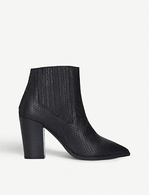 CARVELA Sizzle snake-embossed faux-leather ankle boots