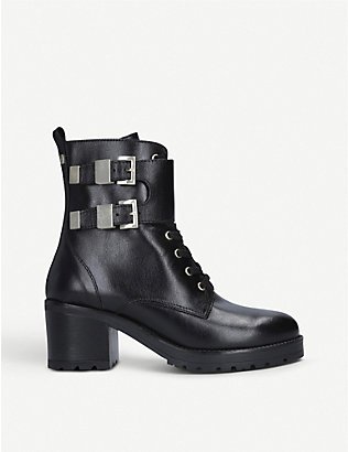 CARVELA: Spicy block heel leather boots