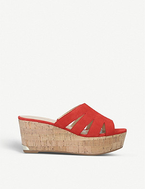NINE WEST Victoria suede wedge sandals