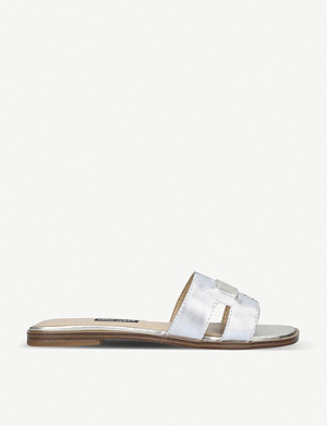 NINE WEST Gianna metallic leather sandals