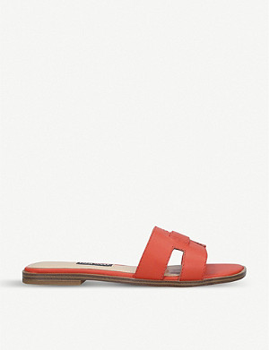 NINE WEST Gianna leather sandals