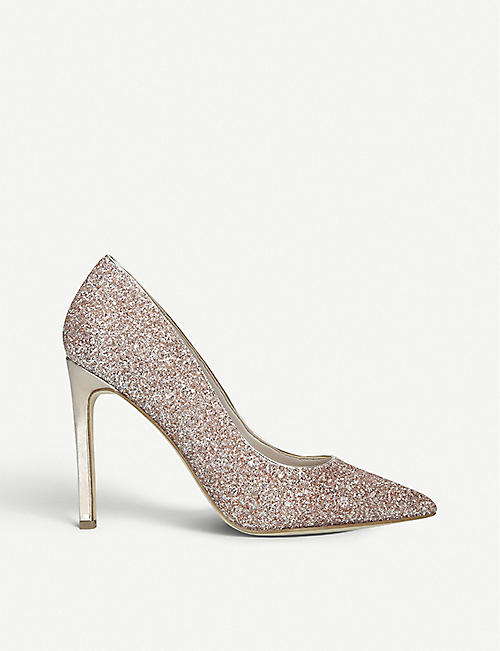 NINE WEST Tatiana glittered court shoes