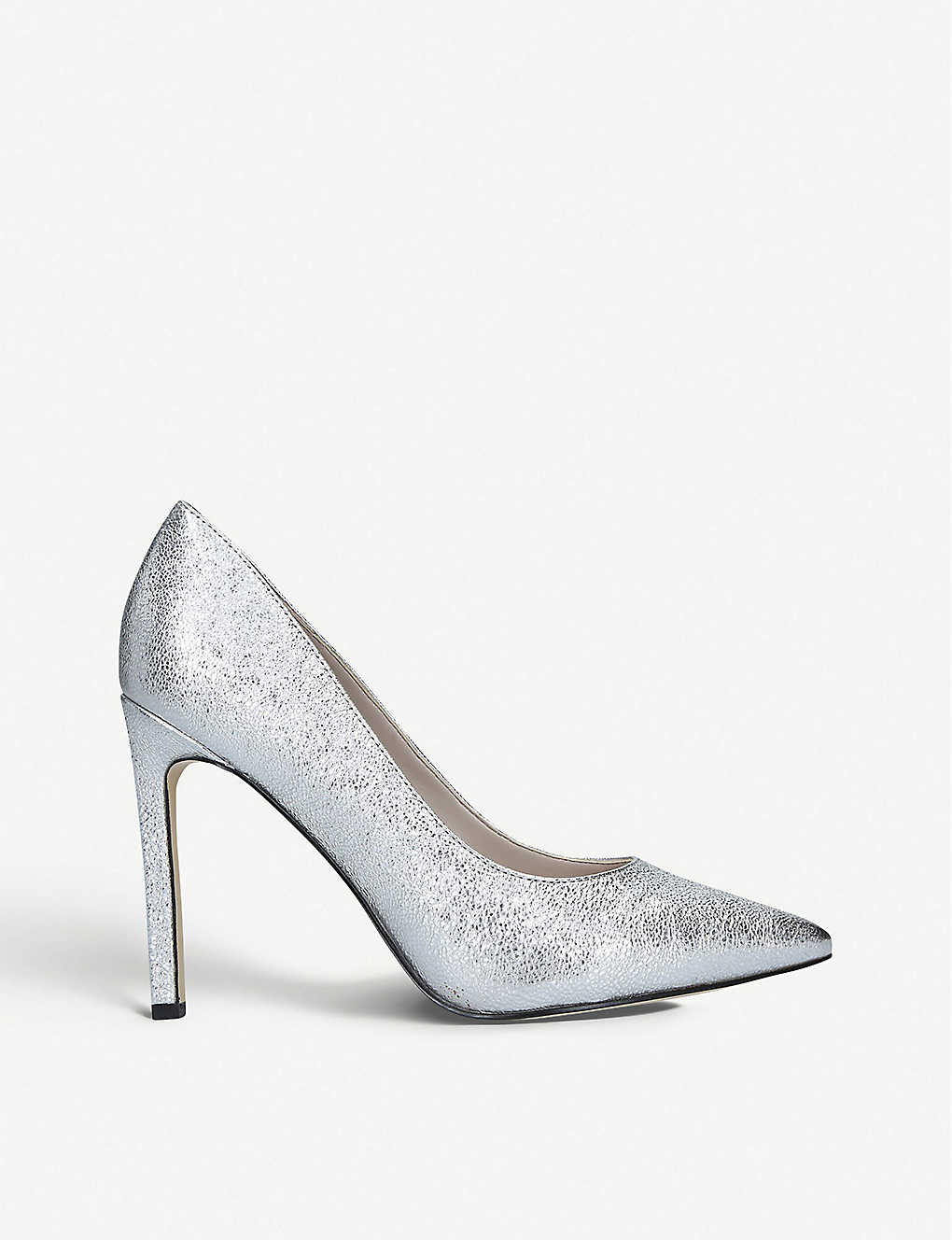 NINE WEST: Tatiana metallic leather court shoes