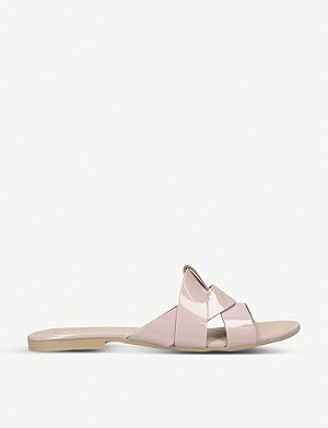 KG KURT GEIGER Ripley patent leather sliders