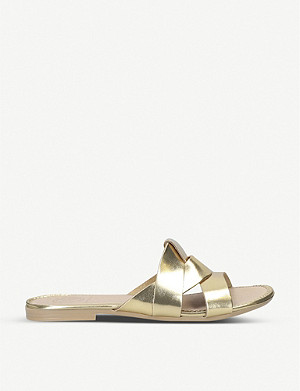 KG KURT GEIGER Ripley metallic leather sliders