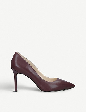 NINE WEST Emmala leather heeled court shoes