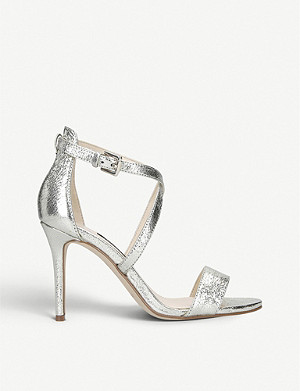 NINE WEST Mydebut leather heeled sandals