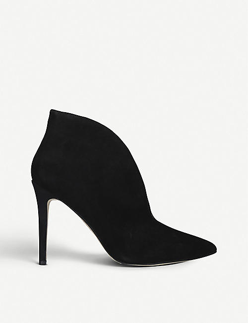 NINE WEST: Tetty suede ankle boots