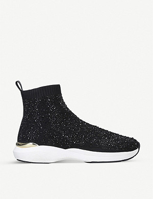 CARVELA Jibberish Bling high-top woven trainers