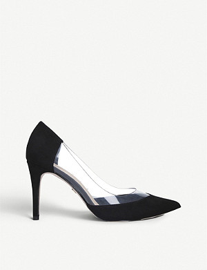 KG KURT GEIGER Atlas suedette and perspex courts