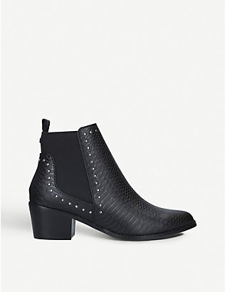 KG KURT GEIGER: Spindle stud-detail ankle boots