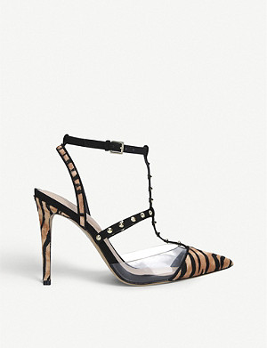 ALDO Celadrielia suede and patent-leather heeled sandals