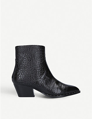 ALDO: Agroacia leather heeled ankle boots