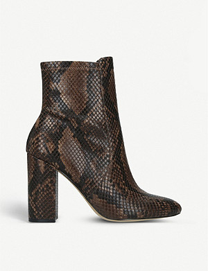 ALDO Aurella snake-print faux-leather ankle boots