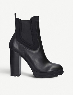 ALDO Elrudien leather and nylon Chelsea boots