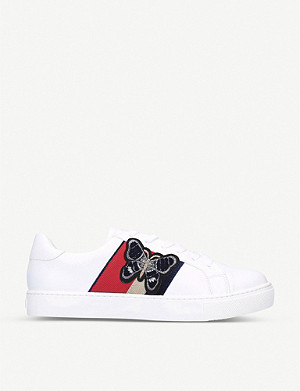ALDO Larerisa butterfly-motif faux-leather low-top trainers