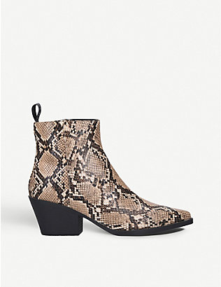 KG KURT GEIGER: Temmy leather ankle boots
