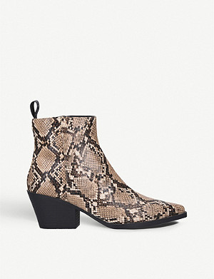 KG KURT GEIGER Temmy leather ankle boots