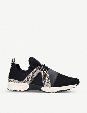CARVELA Lament stretch-knit snakeskin-print trainers