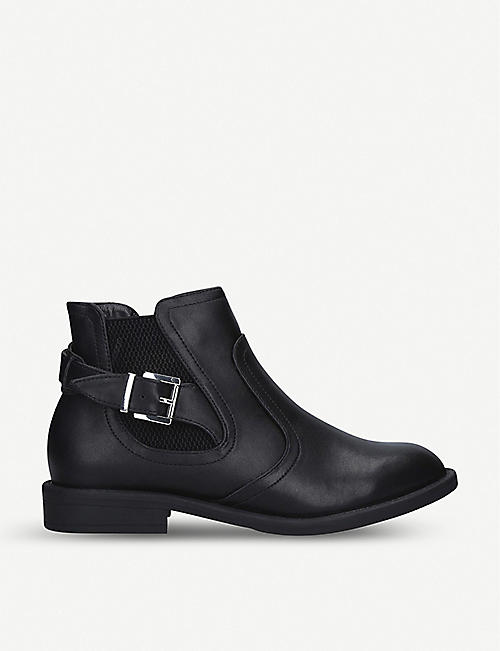 NINE WEST: Cat faux-leather Chelsea boots