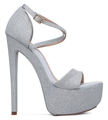 a79d43b960 KG KURT GEIGER - Nanette glitter platform sandals | Selfridges.com
