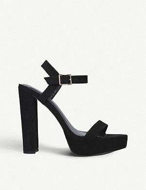 CARVELA Greed faux-suede block-heel sandals