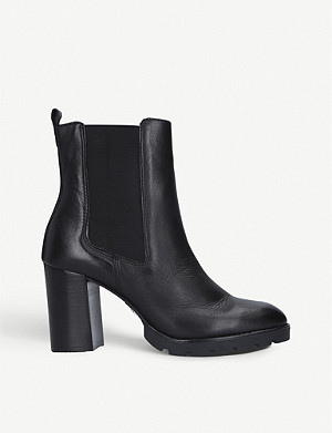 CARVELA Teen block heel leather Chelsea boots