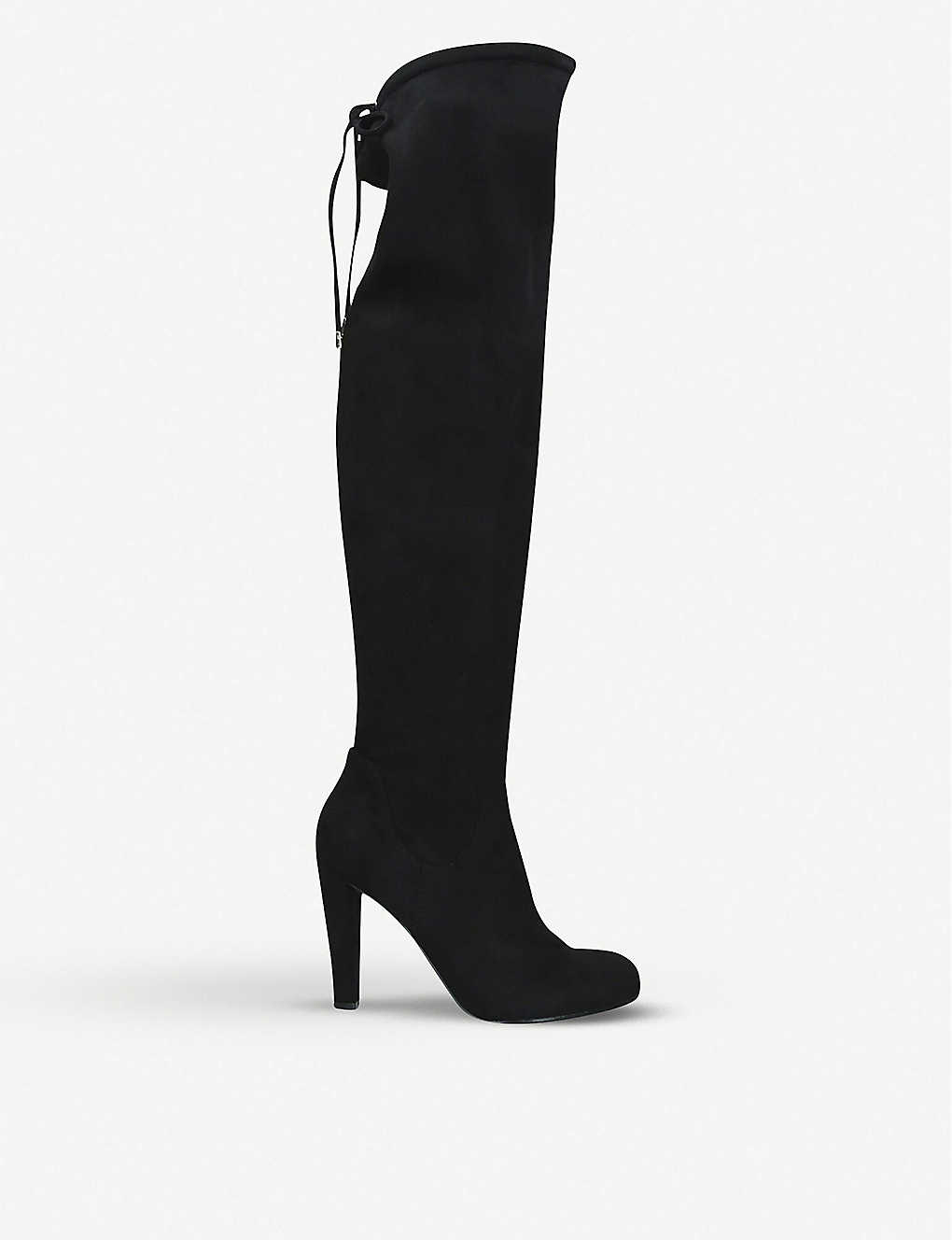 CARVELA: Pammy suede knee-high boots