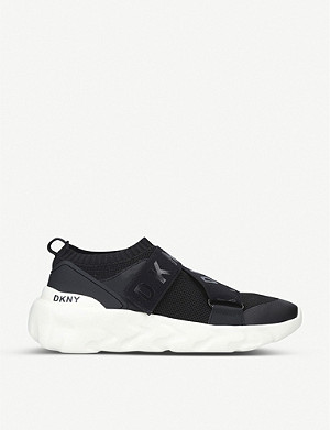 DKNY Clara textile slip-on trainers