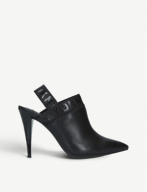 DKNY Kris slingback leather courts
