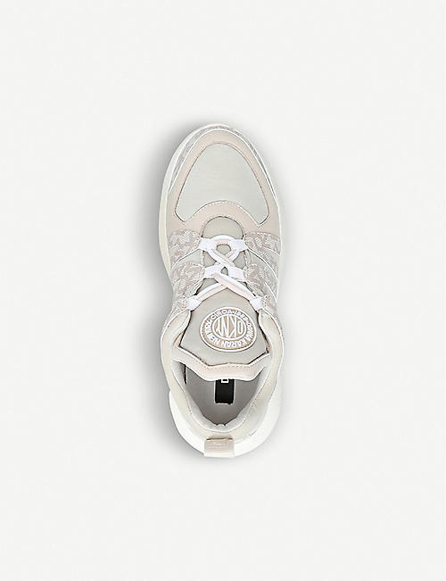 DKNY Lynzie faux-leather and textile trainers