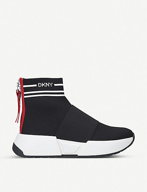 DKNY Marini slip-on textile trainers